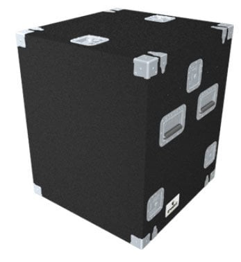 Grundorf Corp TLR-10EXDRB  Carpet Series Top-Load Rack, 12 Space Slant Top, 10 Space Bottom TLR-10EXDRB