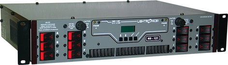 Lightronics Inc. RD-121-ST 12 Channels x 1200W Rack Mount Dimmer with Stagepin Outlet Panel RD-121-ST