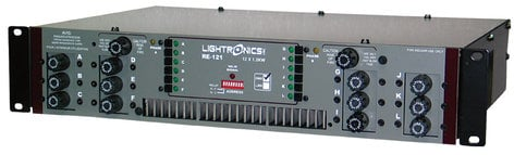 Lightronics Inc. RE-121D-XT 12 Channels x 1200W Rack Mount Dimmer with Terminal/Barrier Connector Strip with Knockout Cover RE121D-XT
