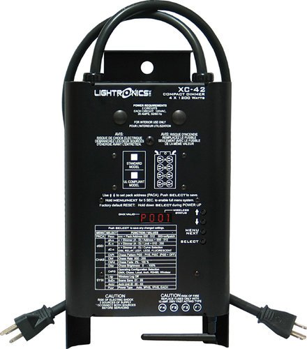 Lightronics Inc. XC-42-WSRX 4 Channels x 1200W Wireless DMX Portable Dimmer with Wireless DMX Receiver XC42-WSRX
