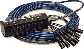 Whirlwind MS06-M-NR-150 150 ft 6 Channel Mini-6 Fan to Box Snake with 6 XLR Inputs, No Returns MS06-M-NR-150