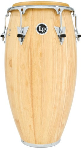 "Latin Percussion LP522X-AWC 11"" Classic Model Wood Quinto in Natural Finish with Chrome Hardware LP522X-AWC"
