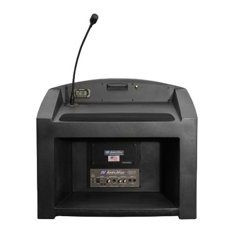 AmpliVox SW3240 Wireless Pinnacle Tabletop Lectern with Lapel Microphone Transmitter SW3240-LAPEL
