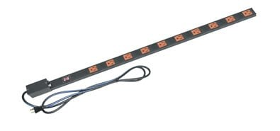 Middle Atlantic Products PDT-2020TL-M-NS  20A 20-Outlet PDT Series Thin Power Strip with 9 ft. Cord PDT-2020TL-M-NS