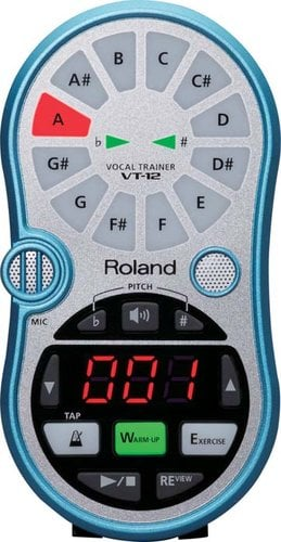 Roland VT12-BLUE Vocal Trainer in Aqua Blue VT12-BLUE