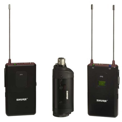 Shure FP135/83-G4 FP Bodypack & Plug-On Wireless Microphone System with WL183 Lavalier FP135/83-G4