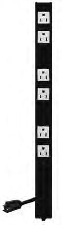 Lowell ACS-1506  15A AC Power Strip with Cord (6-Outlet) ACS-1506