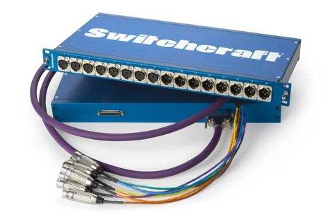 Switchcraft PT16MX2DB25  Patchbay, 16XLR-M to DB25  PT16MX2DB25