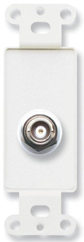 Radio Design Labs D-BNC/D  Insulated Double BNC Jack on Decora Wall Plate D-BNC/D