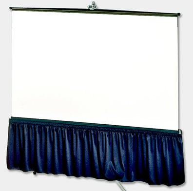 "Draper Shade and Screen C168.205  50"" x 116"" Polyknit Projector Skirt, Black C168.205"