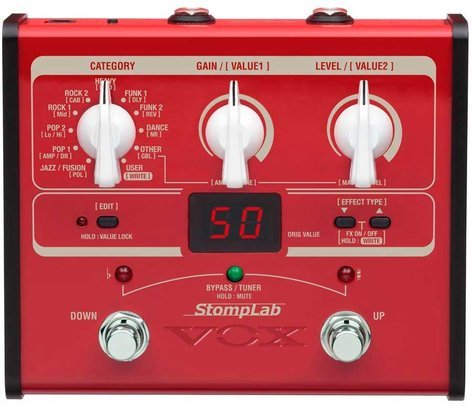 Vox Amplification StompLab IB Multi-Effects Bass Pedal STOMPLAB-1B