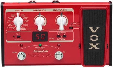 Vox Amplification StompLan IIB Multi-Effects Bass Pedal with Wah Pedal STOMPLAB-2B