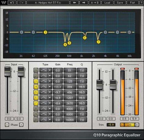 Waves Q10 10-Band Paragraphic EQ Plugin V5-QND40