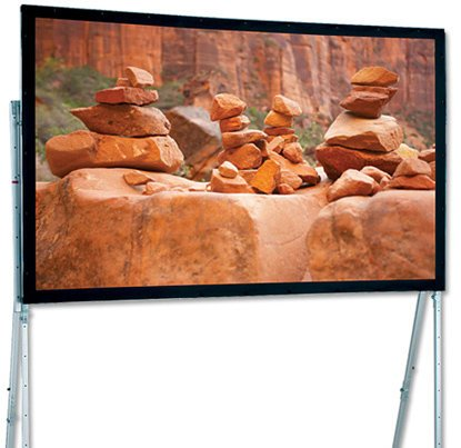 "Draper Shade and Screen 241252  220"" HDTV Ultimate Folding Screen Portable Projection Screen, with Heavy-Duty Legs 241252"