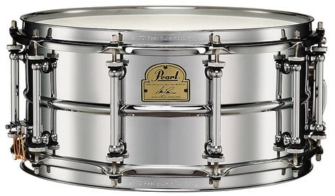 """Pearl Drums IP1465 Ian Paice 6.5""""x14"""" Steel Signature Snare Drum IP1465"""