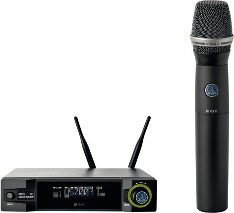 AKG WMS4500 D7 Set Wireless Handheld Vocal Microphone System with D7 Dynamic Capsule WMS4500-D7