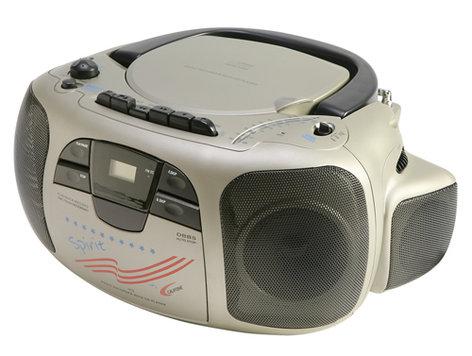 Califone International 1776 CD/Cassette Boombox 1776