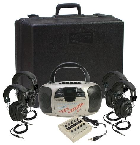 Califone 1776PLC 4-Person Listening Center 1776PLC