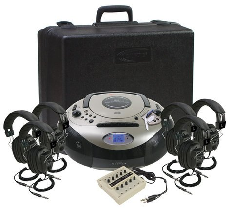 Califone International 1886PLC-6 SD Listening Center, 6 Person 1886PLC-6