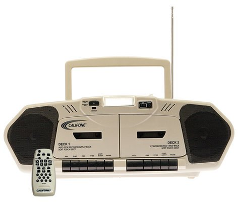 Califone International 2395AV-02 Dual Cassette/CD/AM/FM Boombox 2395AV-02