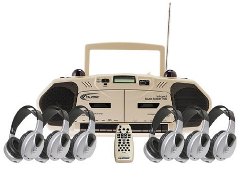 Califone International 2395IRPLC-6 6 Infrared Headphones + Media Player 2395IRPLC-6