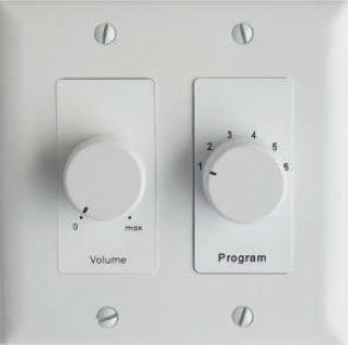 Lowell CS650-DW  Volume Control with Selector Switch (Decora/White) CS650-DW