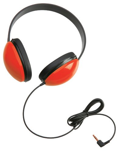 Califone International 2800-RD Listening First™ Stereo Headphones, Red 2800-RD