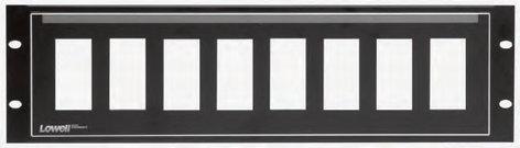 Lowell D8P-ID-3 3RU Decora 8-Hole Panel with Pocket-ID D8P-ID-3