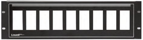 Lowell D9P-ID-3  3RU Decora 9-Hole Panel with Pocket-ID D9P-ID-3