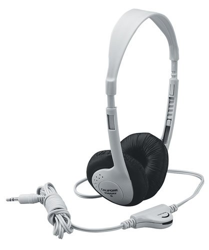 Califone International 3060AV  Lightweight Headphones, Beige (Gray shown) 3060AV