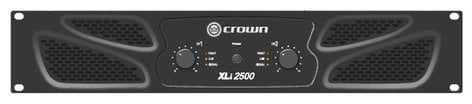 Crown XLi 2500 Stereo Power Amplifier, 750W Per Channel @ 4 Ohms XLI2500