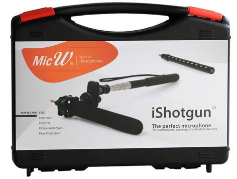 MicW iShotgun Kit Miniature Shotgun Microphone with Accessory Kit ISHOTGUN-KIT