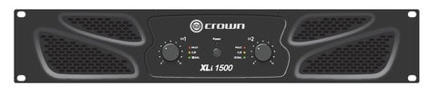 Crown XLi1500 450W per Channel @ 4 Ohms Power Amplifier XLI1500