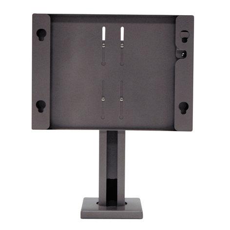 Chief Manufacturing MTSAVB  Medium Security Bolt-Down Table Stand, Black MTSAVB