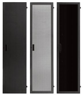 Lowell LFD-24P 24 RU Smoked Plexiglas Rack Front Door with Lock LFD-24P