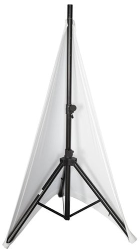 Gator Cases GPA-STAND-2-W Stretchy 2-Side Speaker Stand Cover in White GPA-STAND-2-W