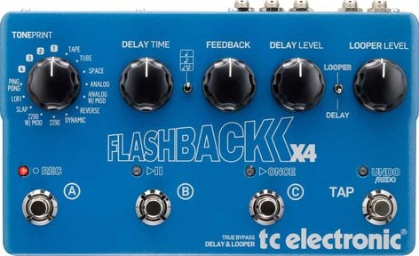 TC Electronic Flashback X4 Delay Guitar Pedal with Looper FLASHBACK-X4