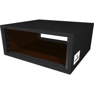 Grundorf Corp RS-04DB  Carpet Series Rack Shell Case, 4 Space, Black RS-04DB