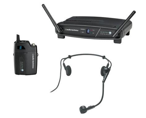 Audio-Technica ATW-1101/H System 10 2.4 GHz Wireless System with Pro8HECW Headworn Microphone ATW-1101/H