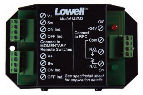 Lowell MSM2  Momentary Switch Module MSM2