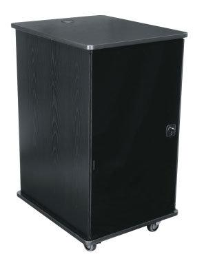 Middle Atlantic Products MFR-1627GC  Dark Cherry 16 RU Mobile Furniture Rack MFR-1627GC