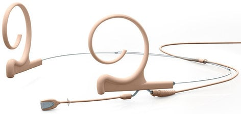 DPA Microphones FIOF00-2S d:fine Omnidirectional Dual Ear Headset Microphone in Beige with Short Boom and MicroDot Connector FIOF00-S2