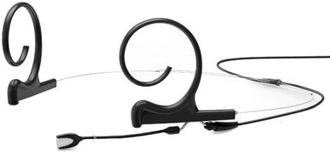 DPA Microphones FIOB00-2S d:fine Black Dual Ear Hook Omnidirectional Short Boom Headset Microphone FIOB00-2S