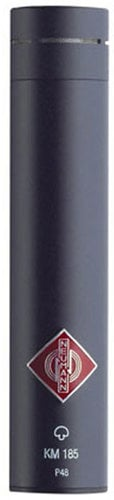 Neumann KM 185 mt Hypercardioid Condenser Microphone in Matte Black Finish with K50 Capsule and Accessories KM185-MT