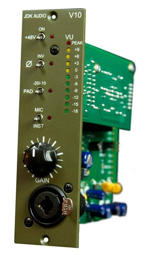 JDK Audio V10 500 Series Single Channel Microphone Preamp V10
