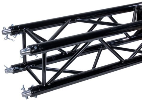 Global Truss SQ-4113-BLK 8.20 ft, F34 Square Truss Segment in Black Powder Coat Finish SQ4113-BLK