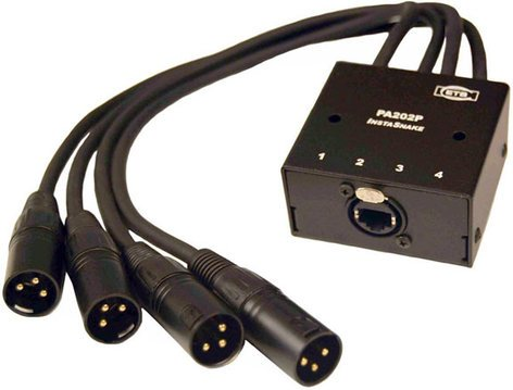 ETS PA202P 4x XLR-M to 1.5 ft. Pigtail  to RJ45 InstaSnake Adapter ETS-PA202P