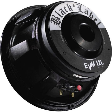 Electro-Voice EVM12L-BLACKLABEL-8 Electro-Voice Black Label, 8 Ohm, Zakk Wylde Guitar Driver EVM12L-BLACKLABEL-8