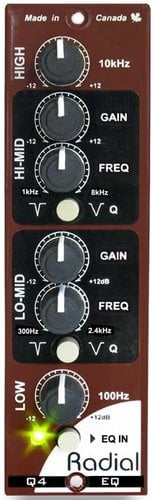 Radial Engineering Q4 500 Series Semi-Parametric EQ Module Q4