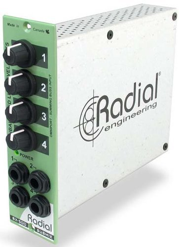 Radial Engineering Submix 500 Series 4x1 Line Mixer Module SUBMIX